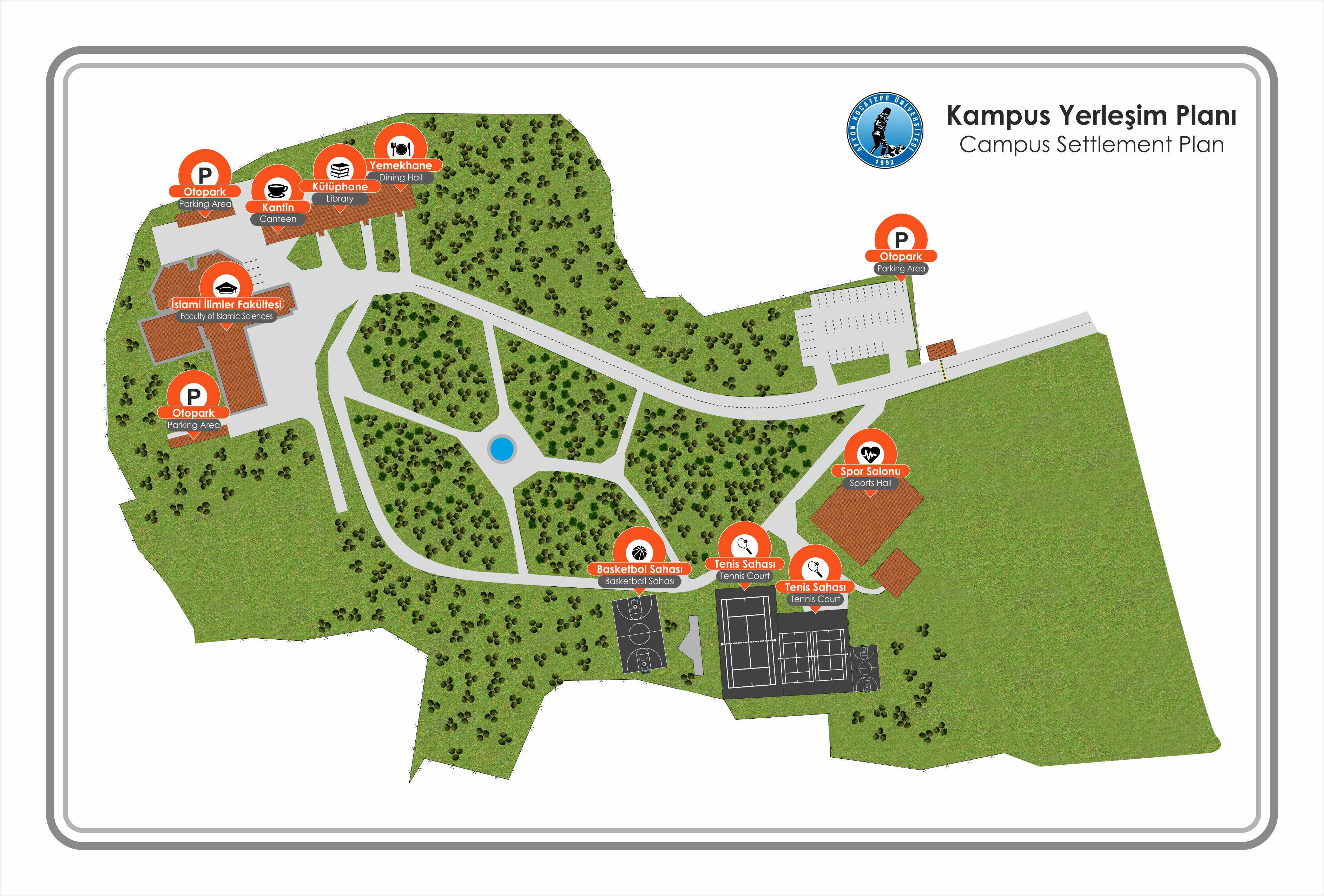 Ahmet Karahisari Kampüsü vaziyet planı